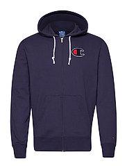 Hooded Full Zip Sweatshirt - BLUE
