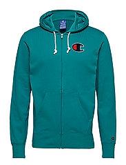 Hooded Full Zip Sweatshirt - BRIGHT GREEN