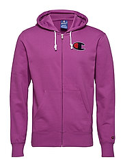 Hooded Full Zip Sweatshirt - PURPLE