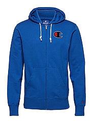 Hooded Full Zip Sweatshirt - ROYAL BLUE