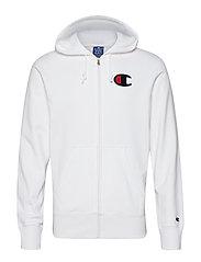 Hooded Full Zip Sweatshirt - WHITE