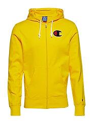 Hooded Full Zip Sweatshirt - YELLOW