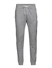 Rib Cuff Pants - GREY MARL