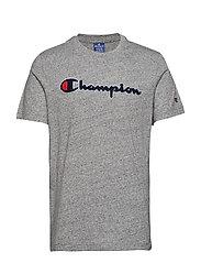Crewneck T-Shirt - GREY MARL