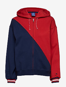 Hooded Full Zip Sweatshirt - RED