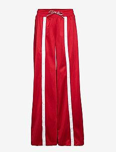 Straight Hem Pants - RED