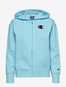Hooded Full Zip Sweatshirt - BRIGHT BLUE