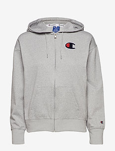 Hooded Full Zip Sweatshirt - GREY