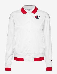 Bomber Sweatshirt - WHITE