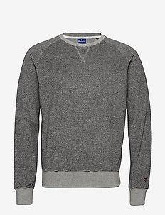 Crewneck Sweatshirt - basic-strickmode - grey and navy