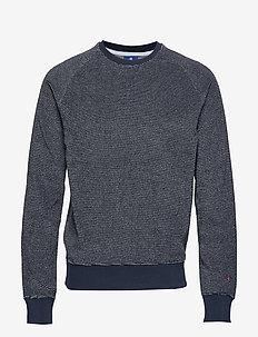 Crewneck Sweatshirt - basic-strickmode - navy and white