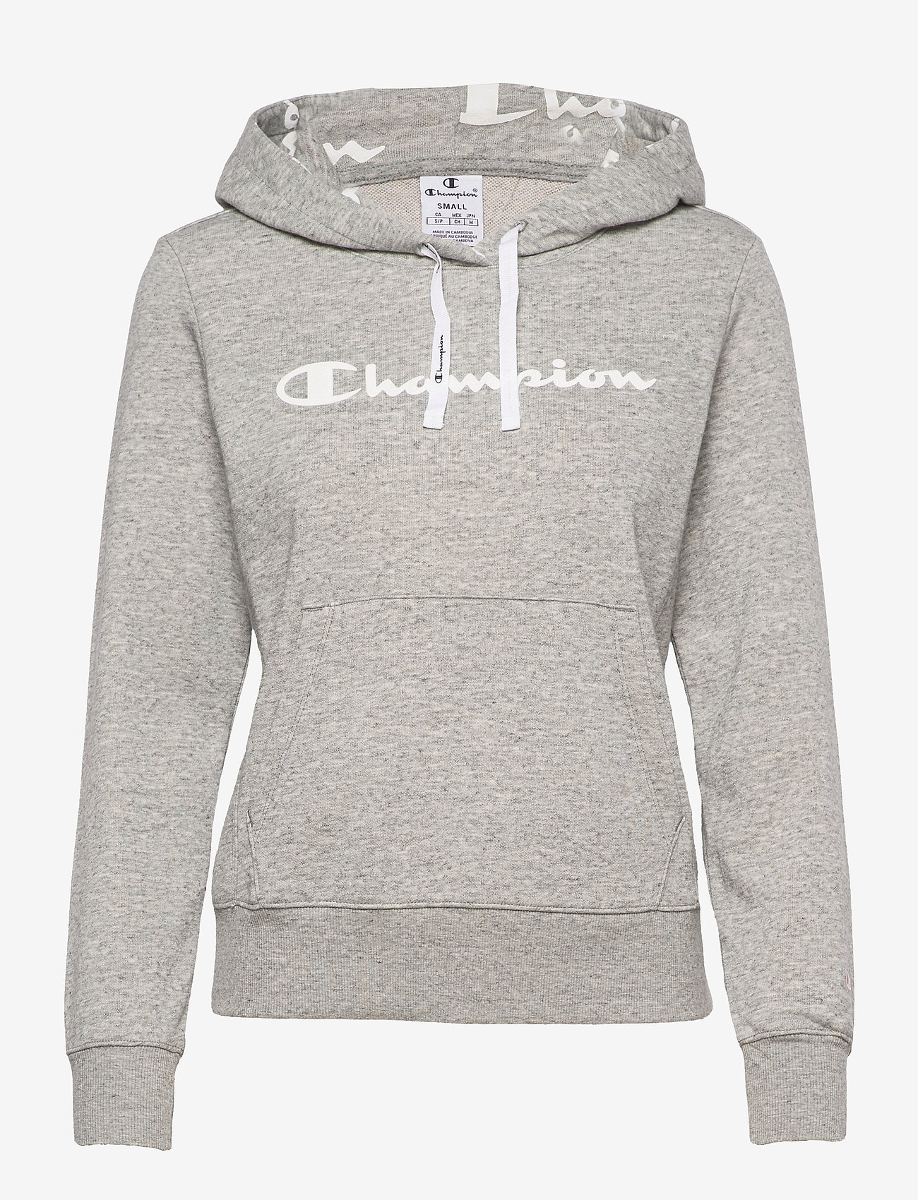 Champion - Hooded Sweatshirt - hættetrøjer - oxford grey melange yarn dyed - 0