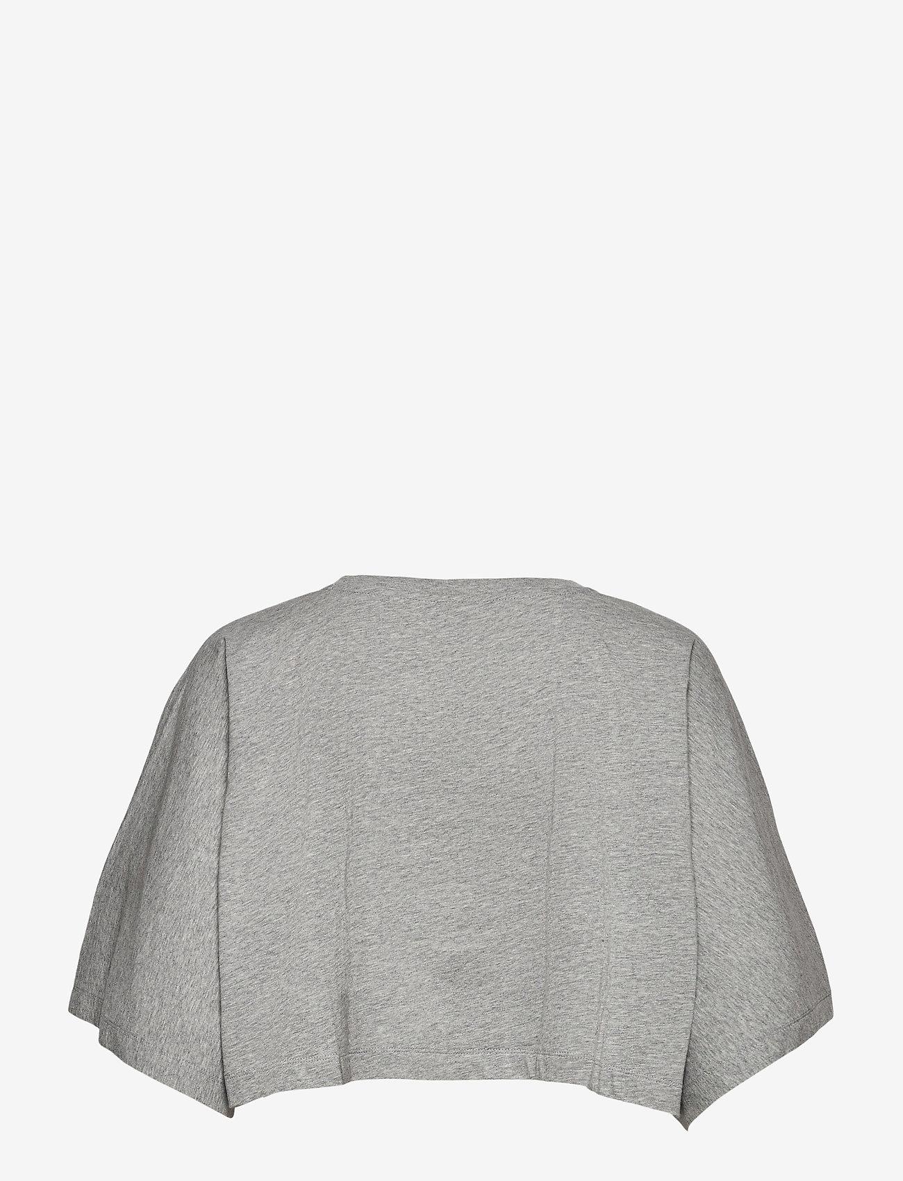 Champion - Crewneck T-Shirt - crop tops - gray melange light - 1