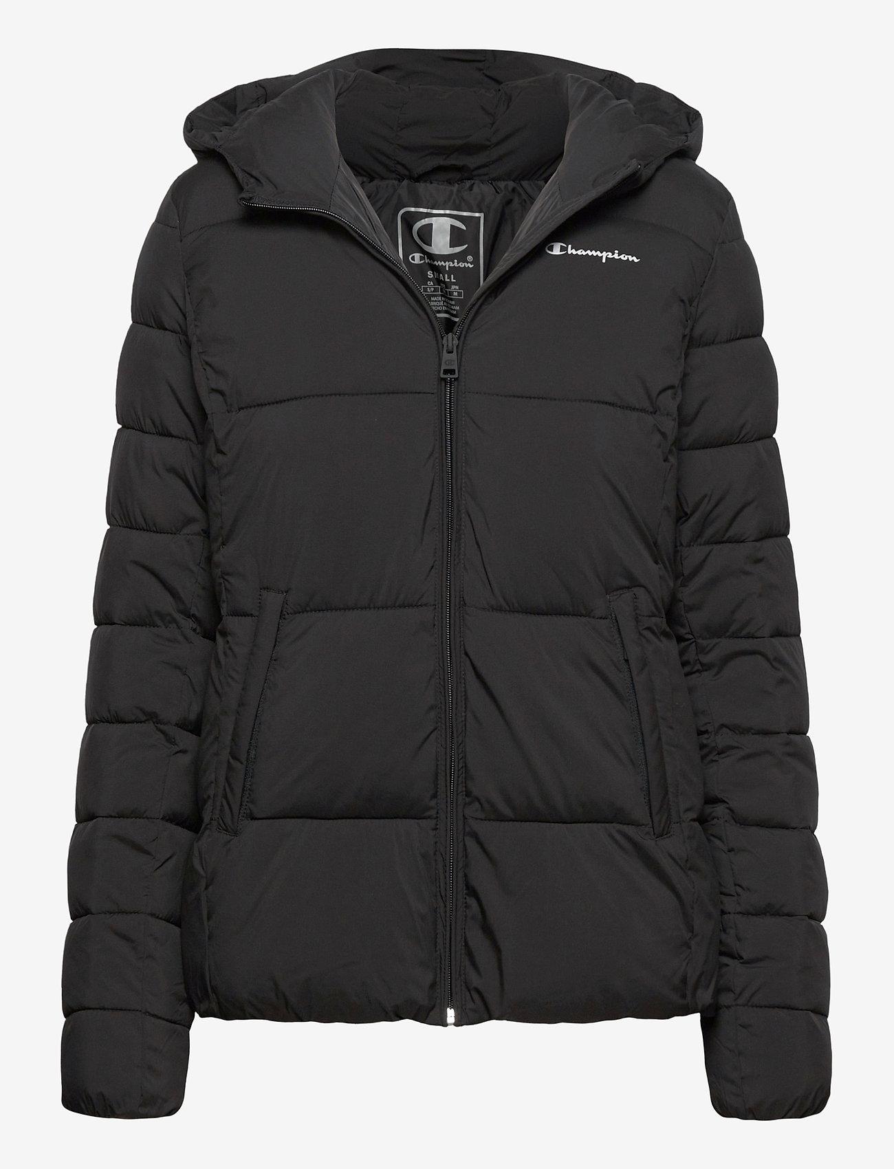 Champion - Hooded Polyfilled Jacket - trainingsjacken - black beauty - 0