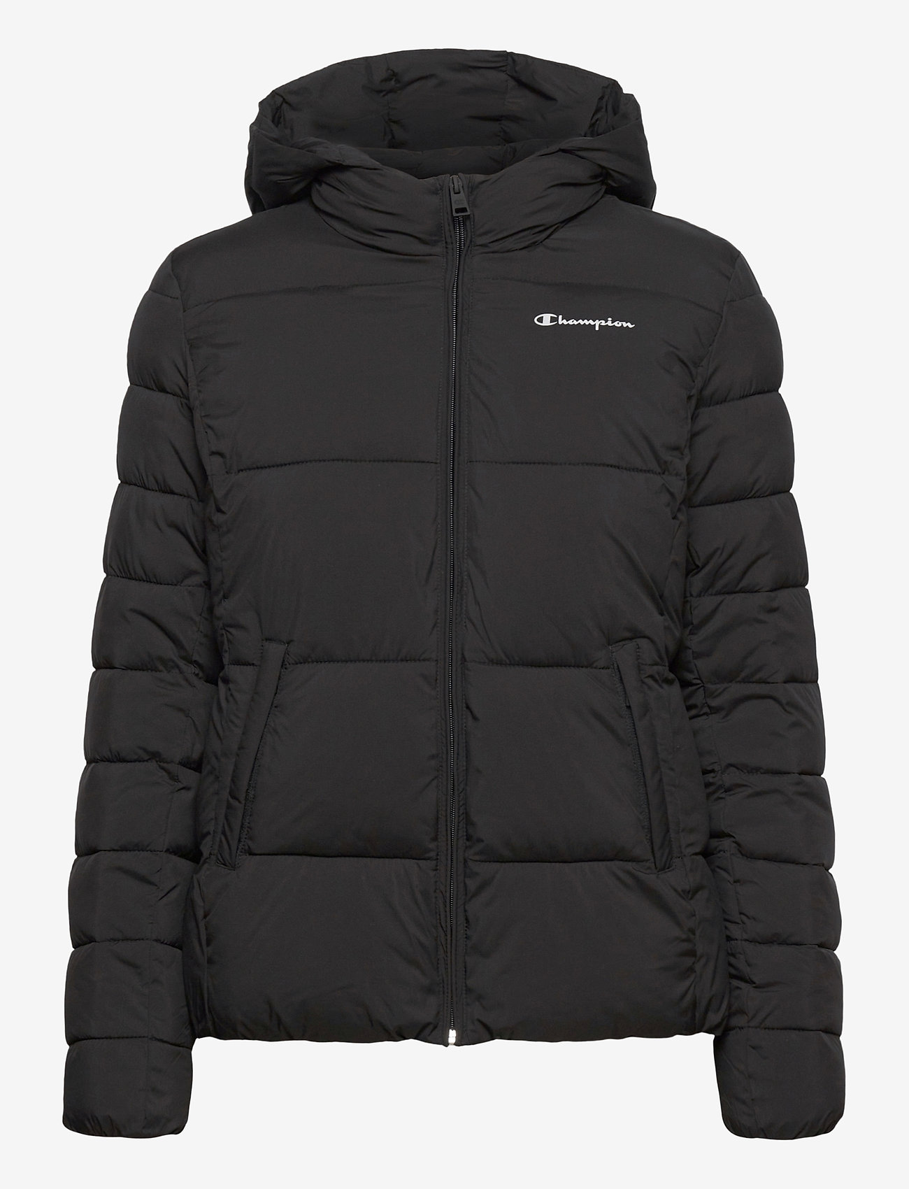 Champion - Hooded Polyfilled Jacket - trainingsjacken - black beauty - 1