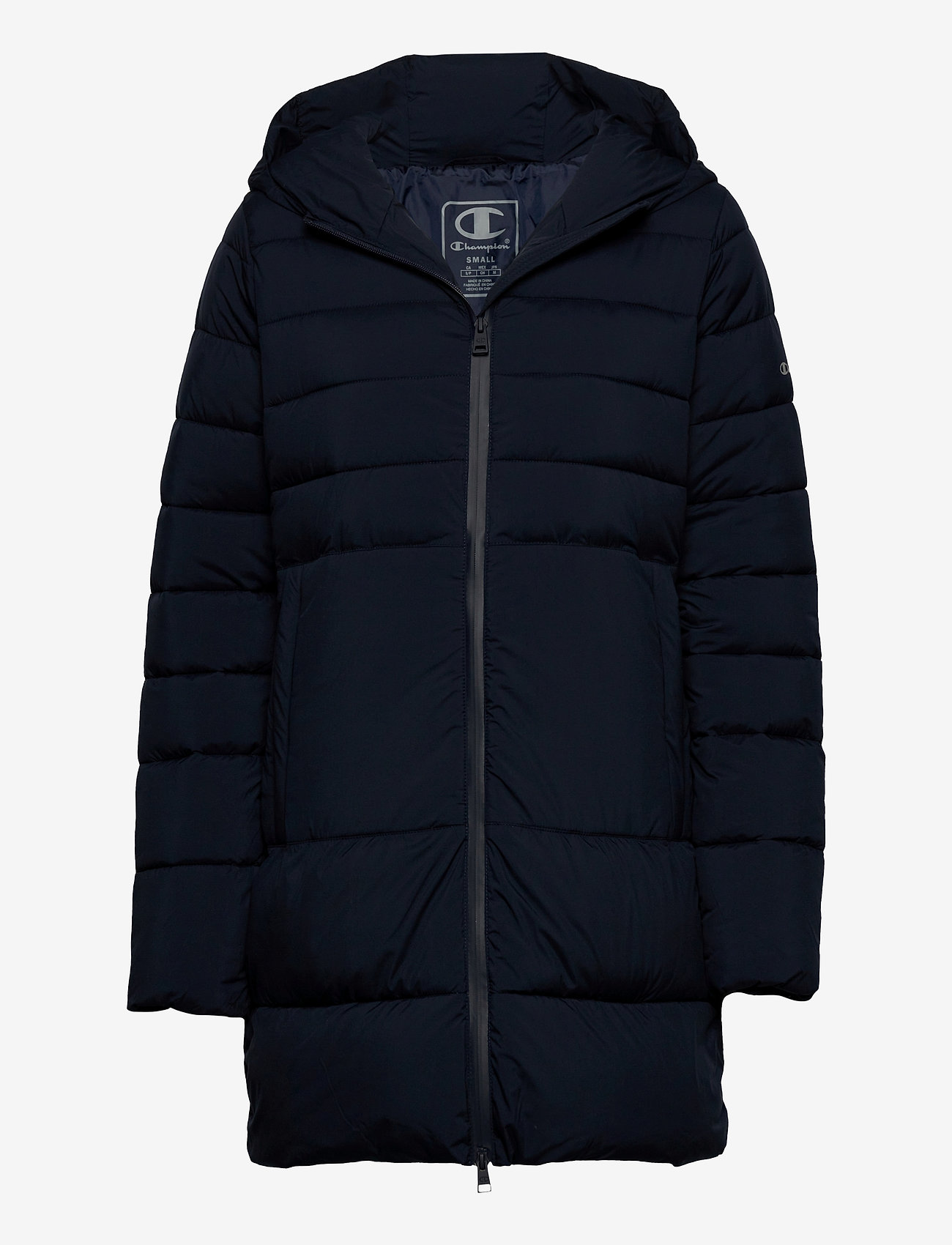 Champion - Hooded Polyfilled Jacket - parkas - sky captain - 0