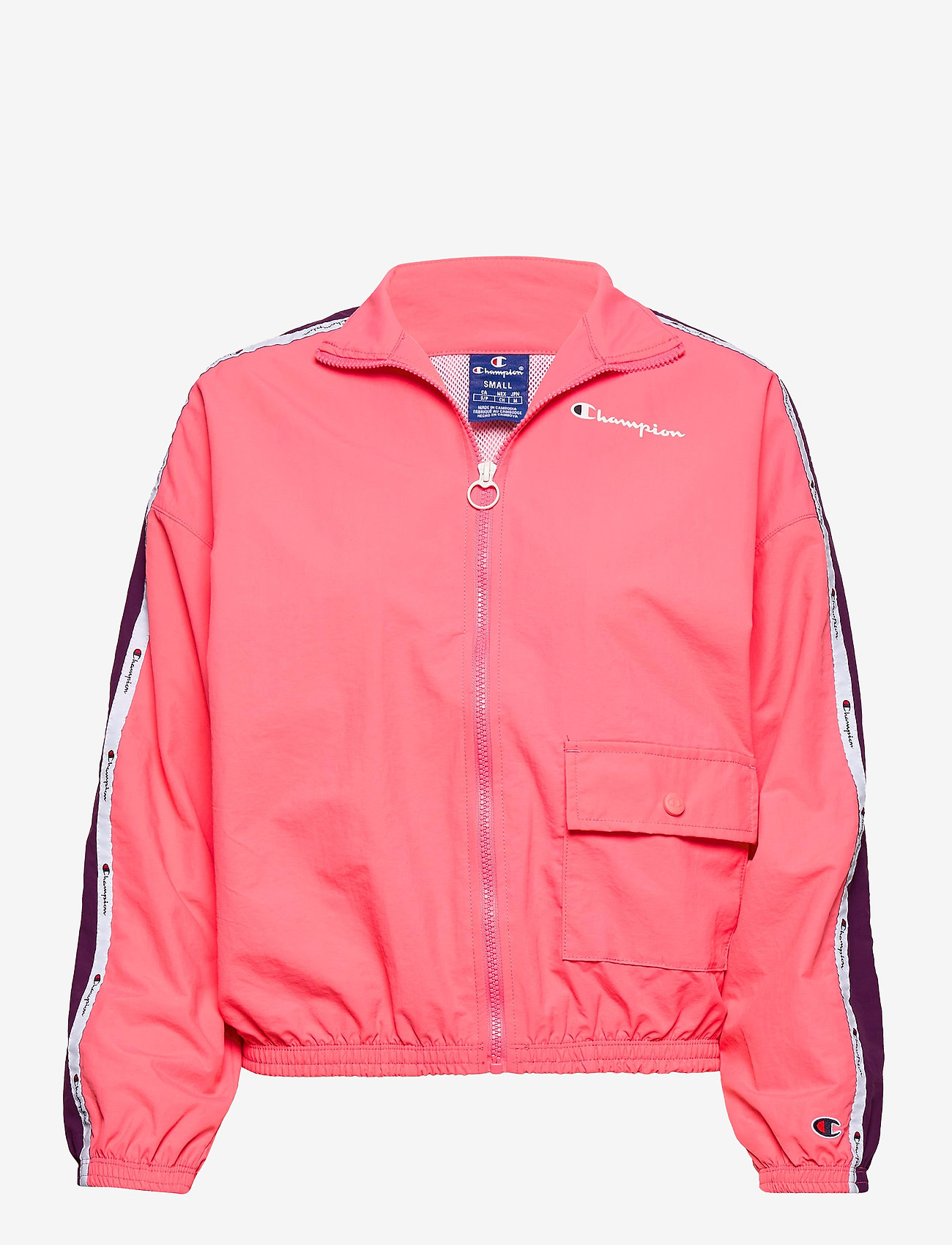 Champion - Full Zip Sweatshirt - svetarit - strawberry pink - 0