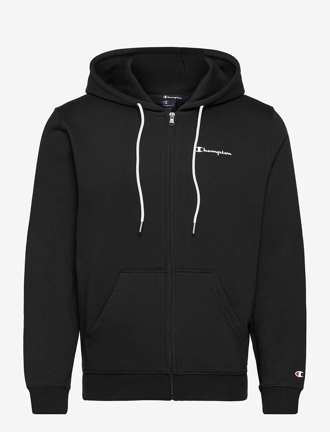 Champion - Hooded Full Zip Sweatshirt - basic sweatshirts - black beauty - 0
