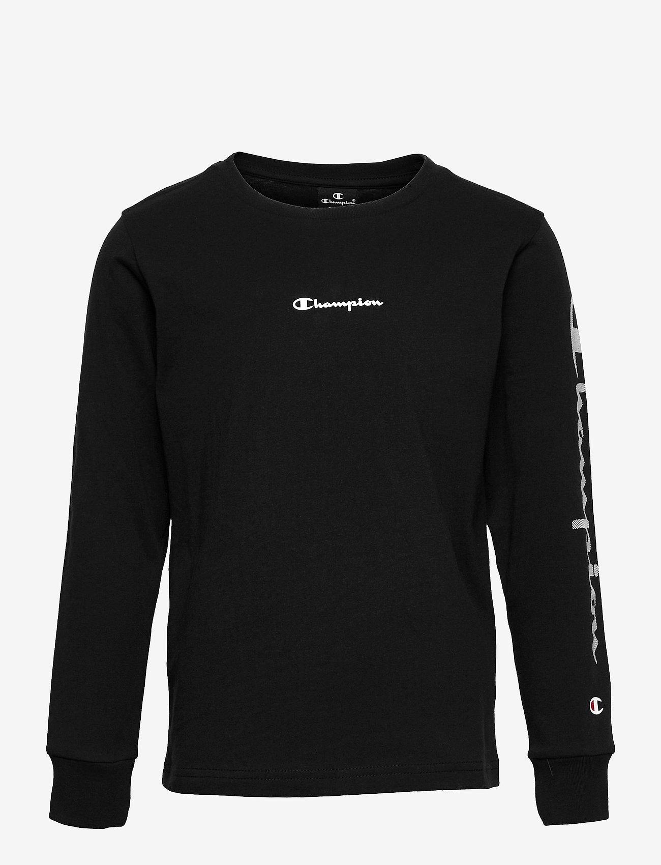 Champion - Long Sleeve Crewneck T-Shirt - long-sleeved t-shirts - sky captain - 0