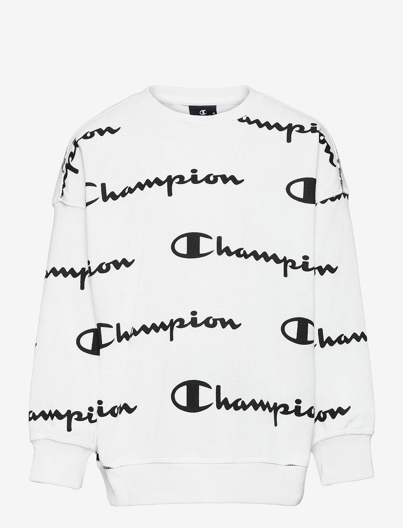 Champion - Crewneck Sweatshirt - sweatshirts - white al (wht) - 0