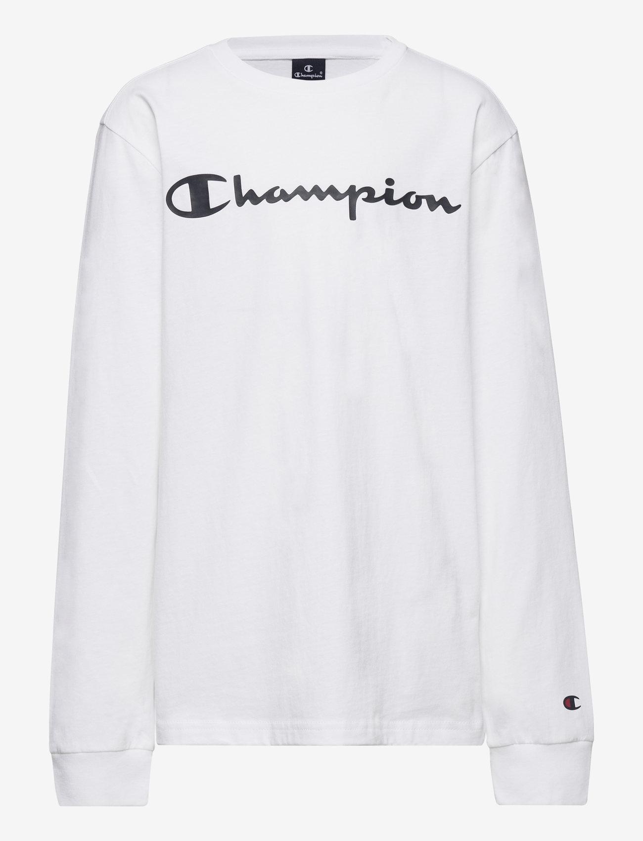 Champion - Long Sleeve T-Shirt - sweatshirts - white - 0