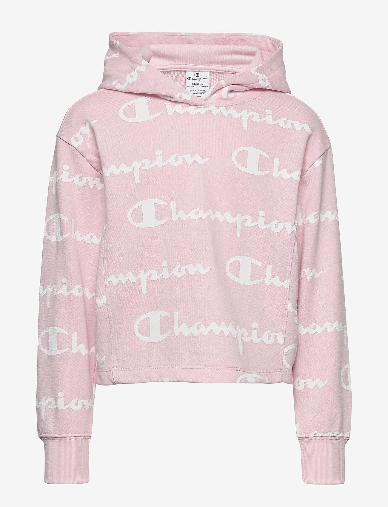 light pink champion hoodie