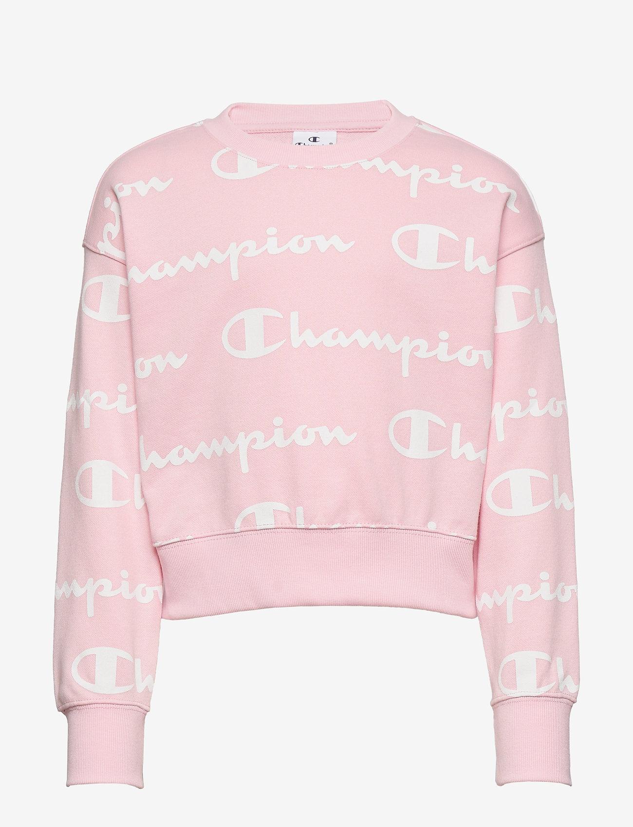 Champion - Crewneck Croptop - sweatshirts - parfait pink al - 0