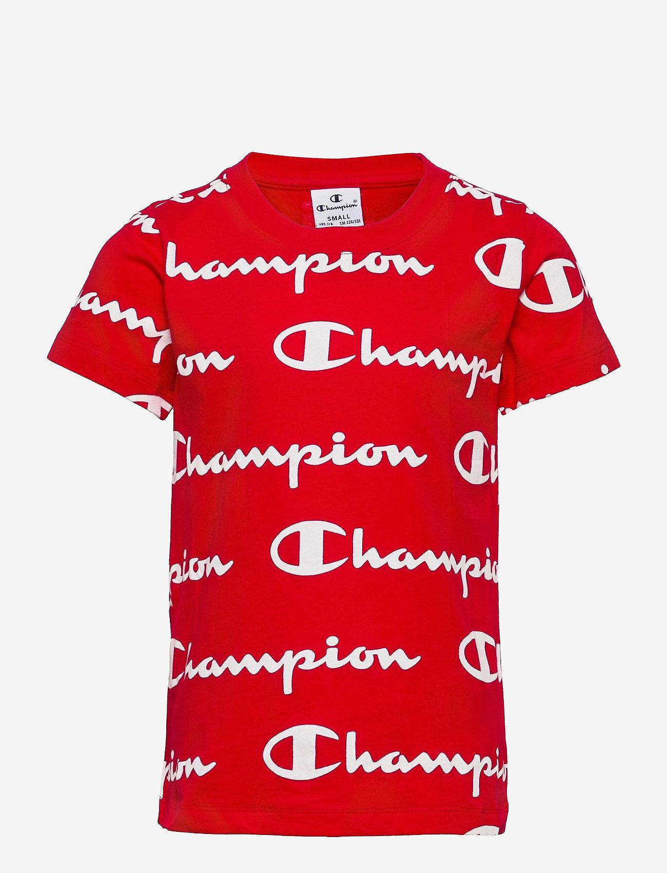 Champion - Crewneck T-Shirt - short-sleeved t-shirts - higt risk red al (hrr) - 0