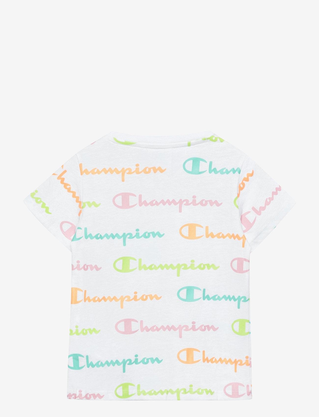 Champion - Crewneck T-Shirt - short-sleeved - white al (wht) - 1