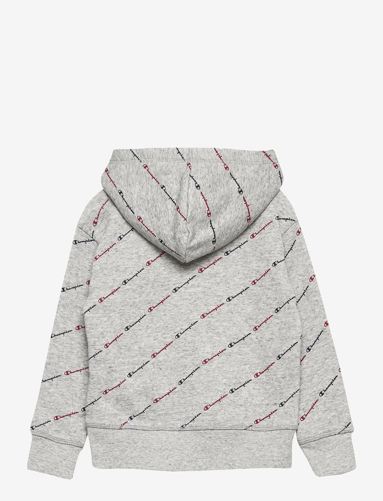 Champion - Hooded Sweatshirt - kapuzenpullover - new oxford grey melange al (noxm) - 1