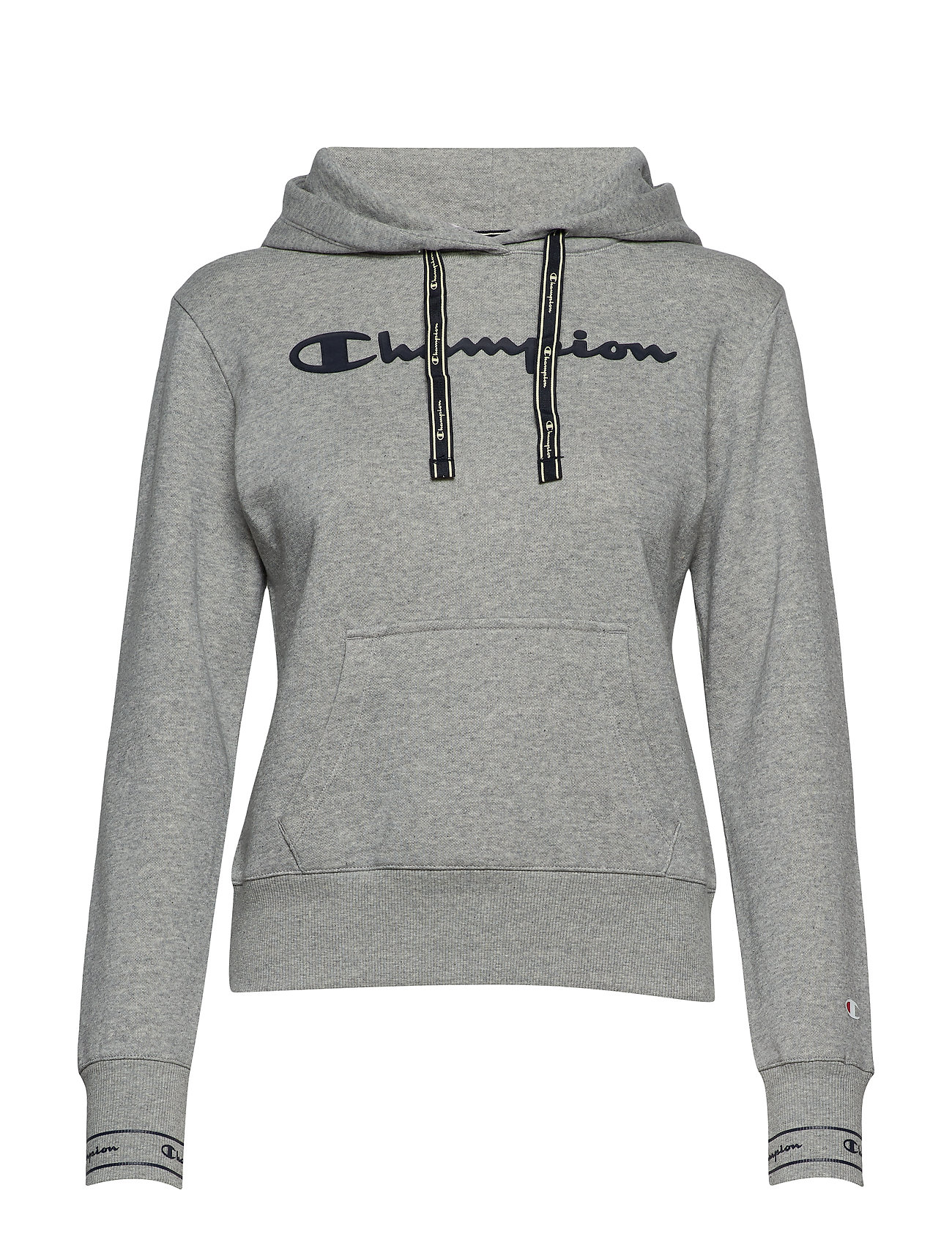 Champion Hooded Sweatshirt - GRAY MELANGE LIGHT