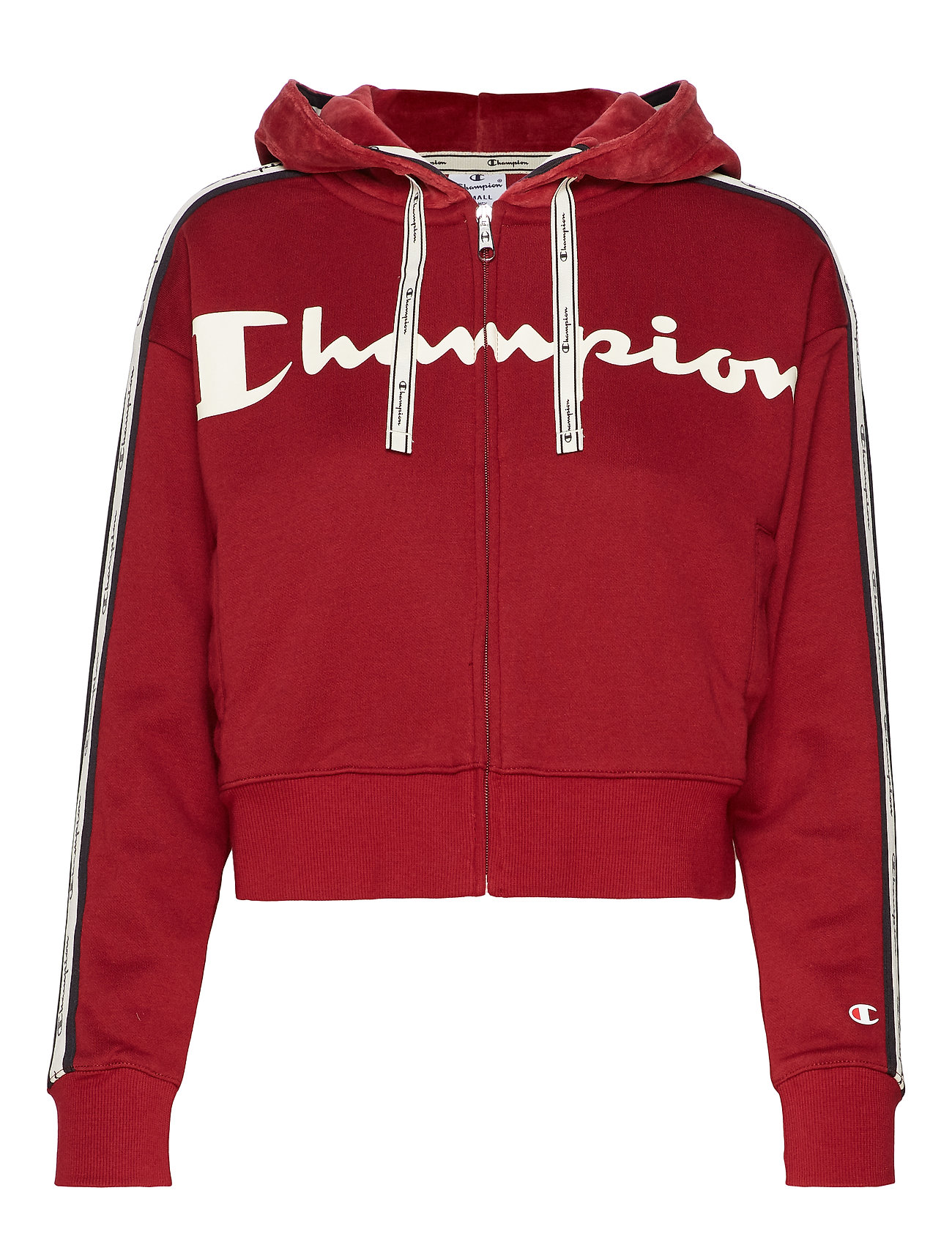 Champion Hooded Full Zip Sweatshirt - BIKING RED