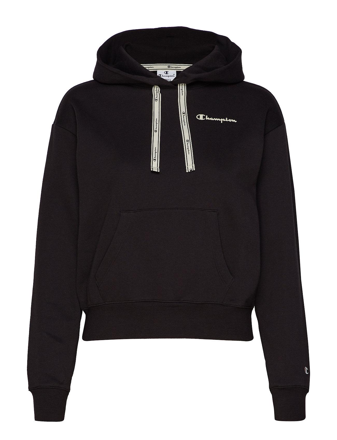 Champion Hooded Crop Top - BLACK BEAUTY