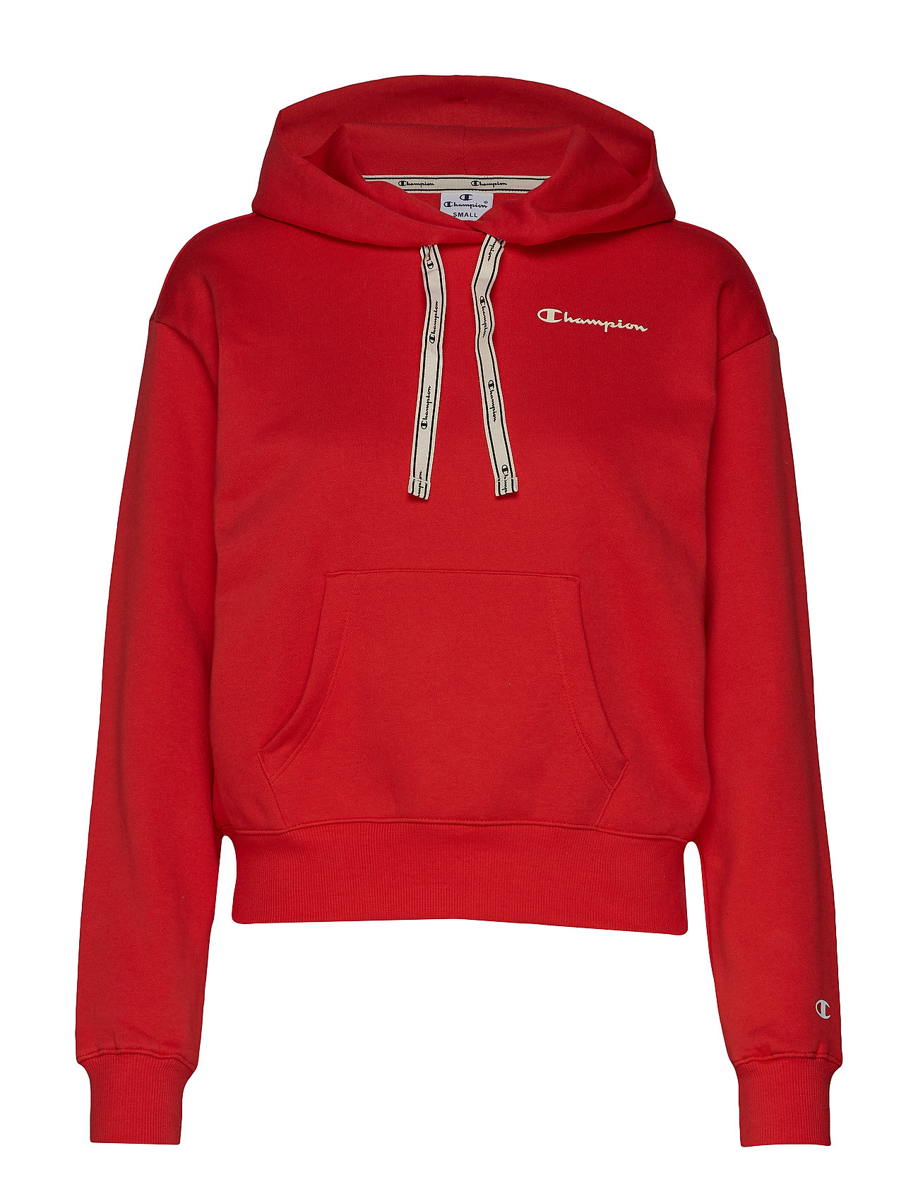 Champion Hooded Crop Top - POPPY RED