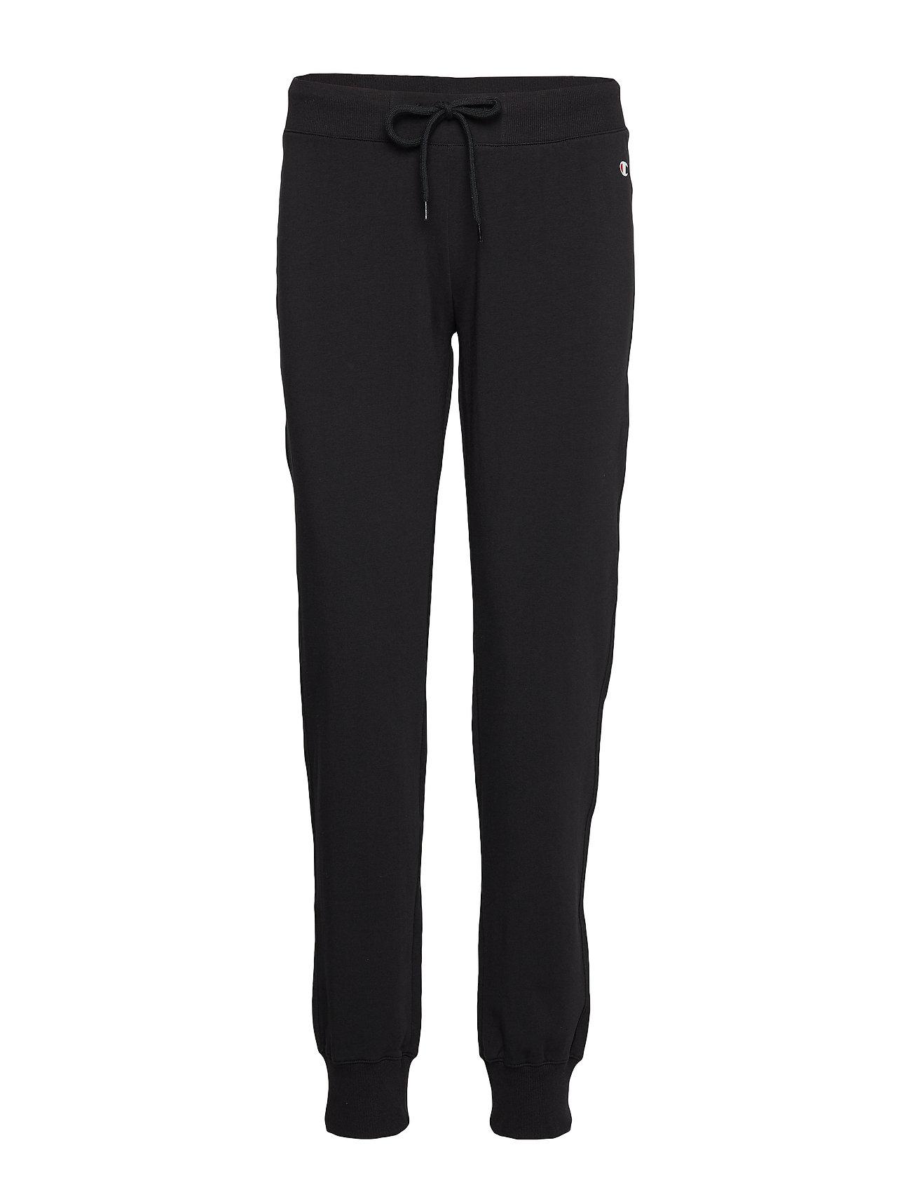 Champion Rib Cuff Pants - BLACK BEAUTY