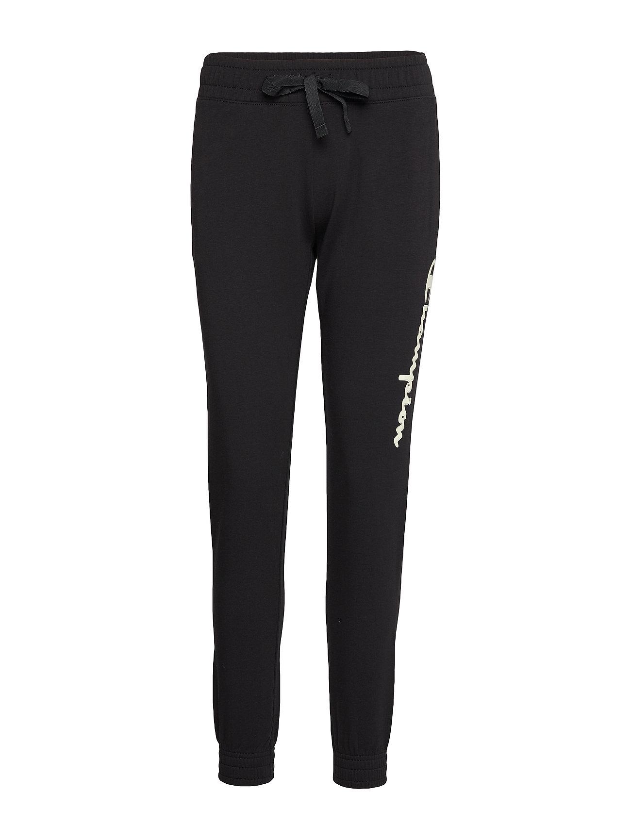 Champion Elastic Cuff Pants - BLACK BEAUTY