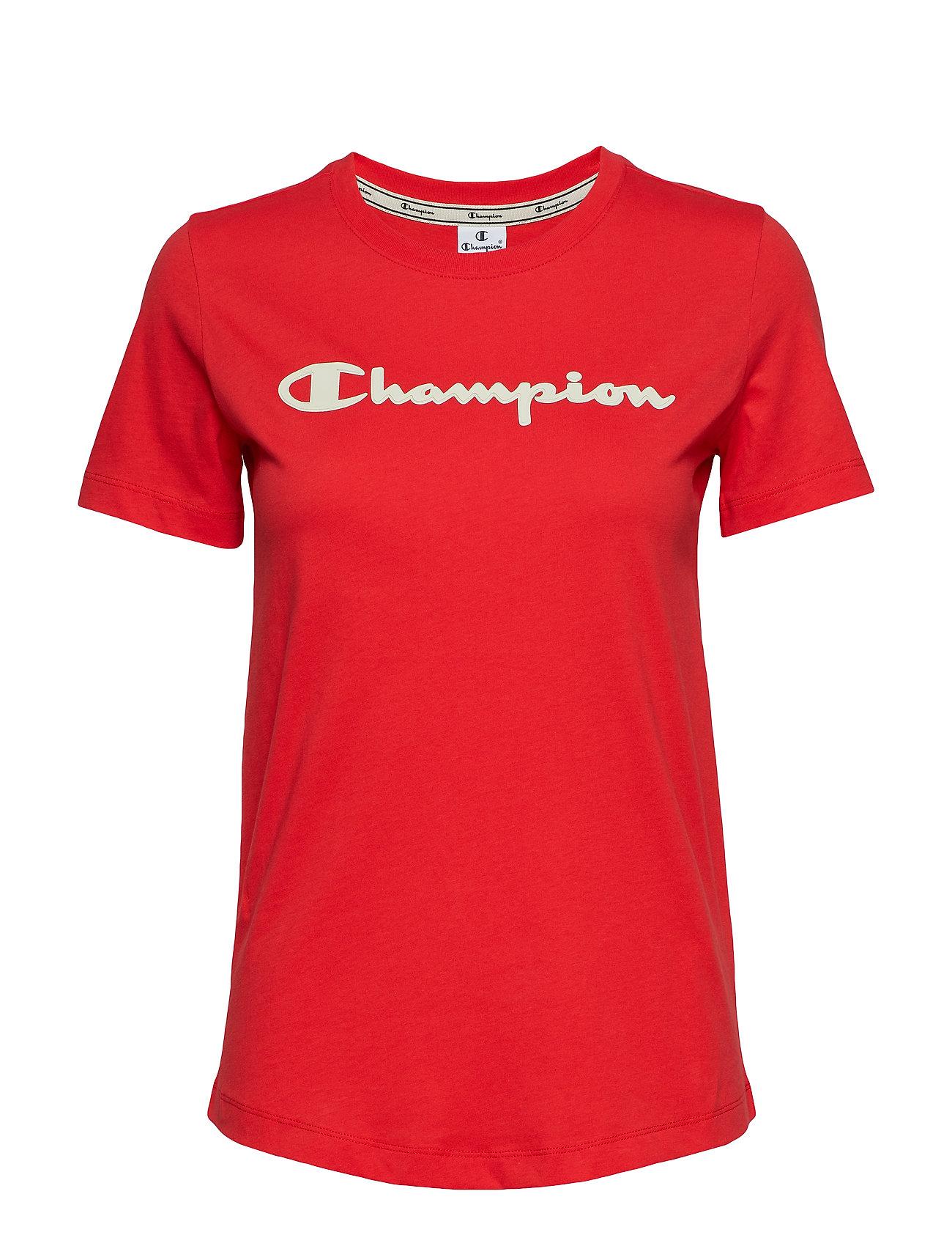Champion Crewneck T-Shirt - POPPY RED