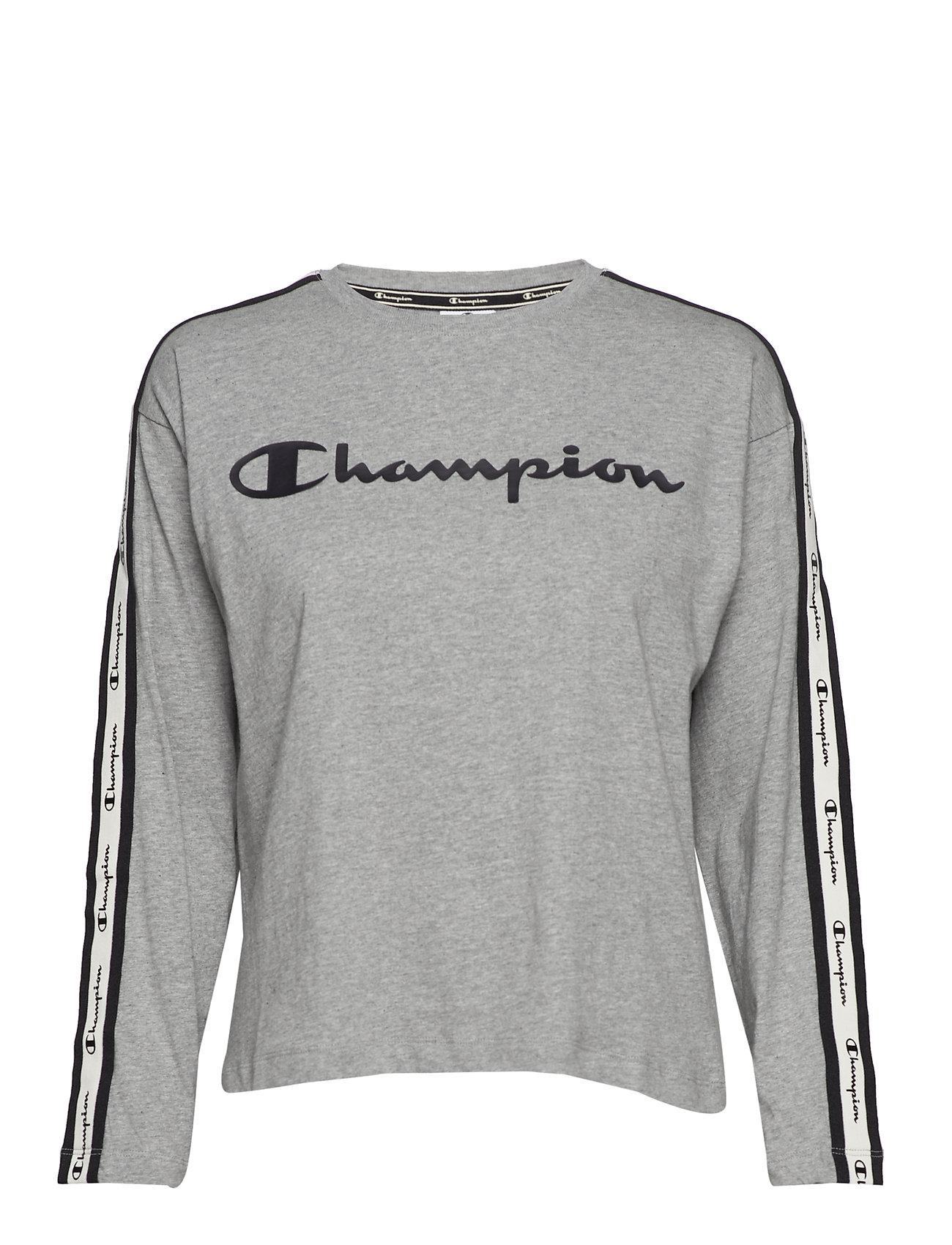 Champion Long Sleeve T-Shirt - GRAY MELANGE LIGHT