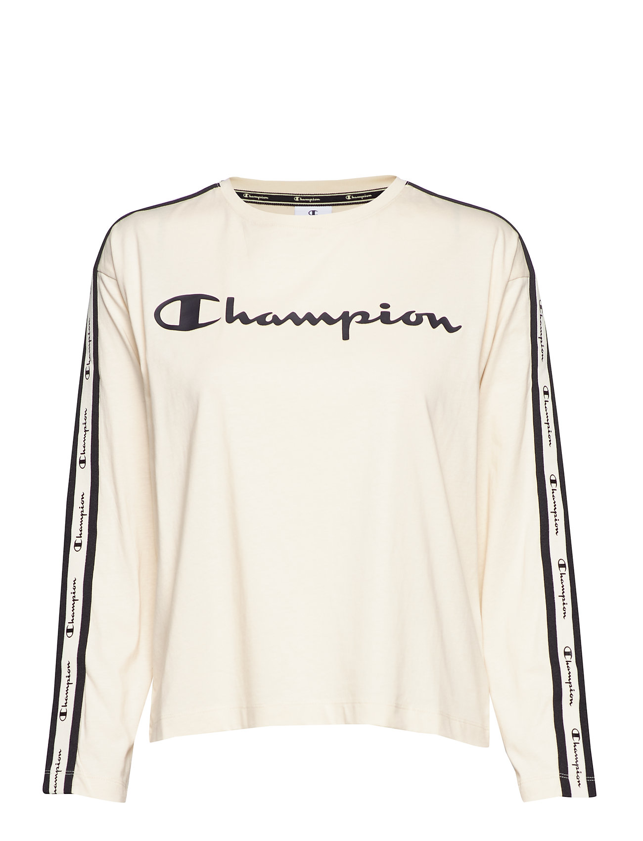 Champion Long Sleeve T-Shirt - WHITE ASPARAGUS