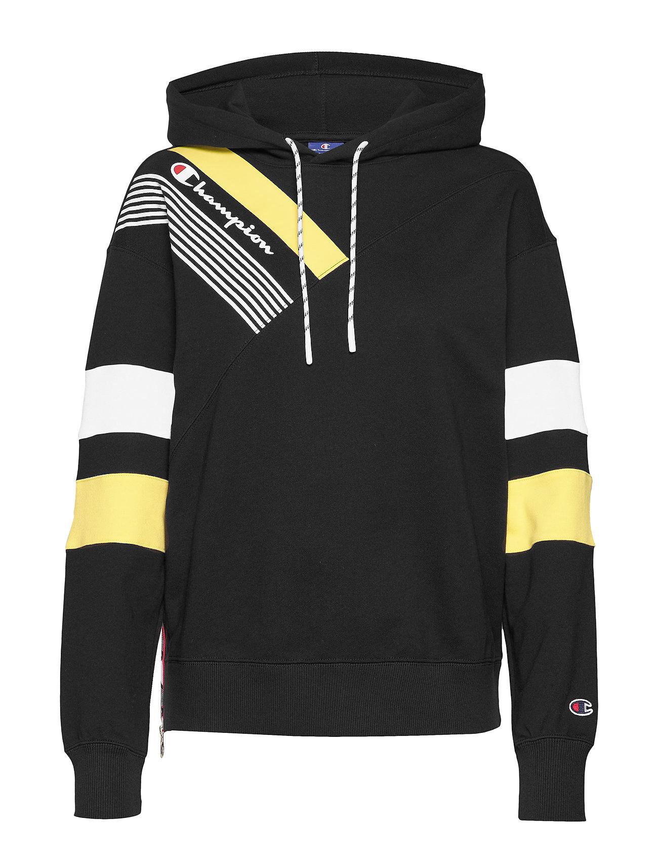Hooded Sweatshirt Hoodie Trøje Sort Champion