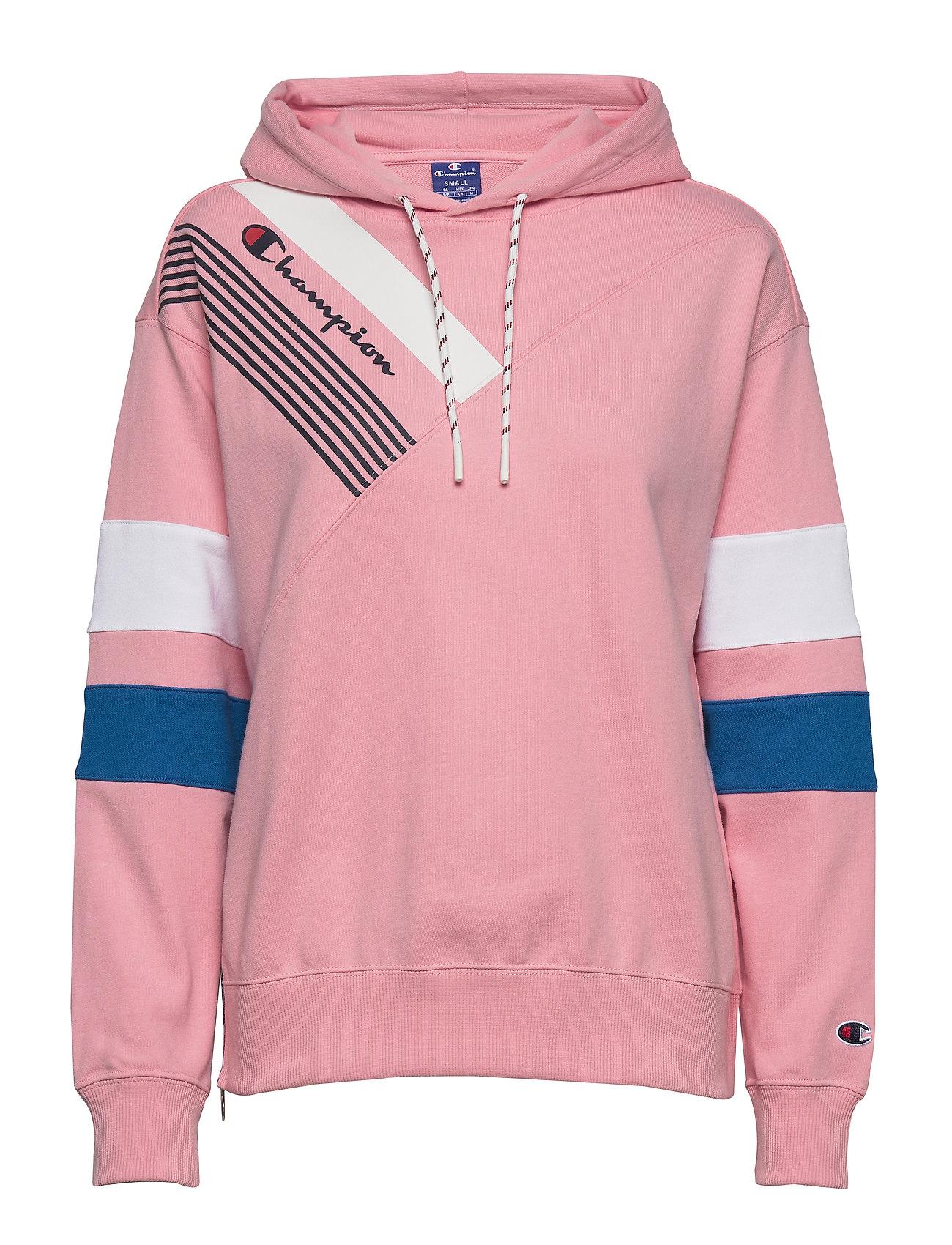 Hooded Sweatshirt Hoodie Trøje Lyserød Champion