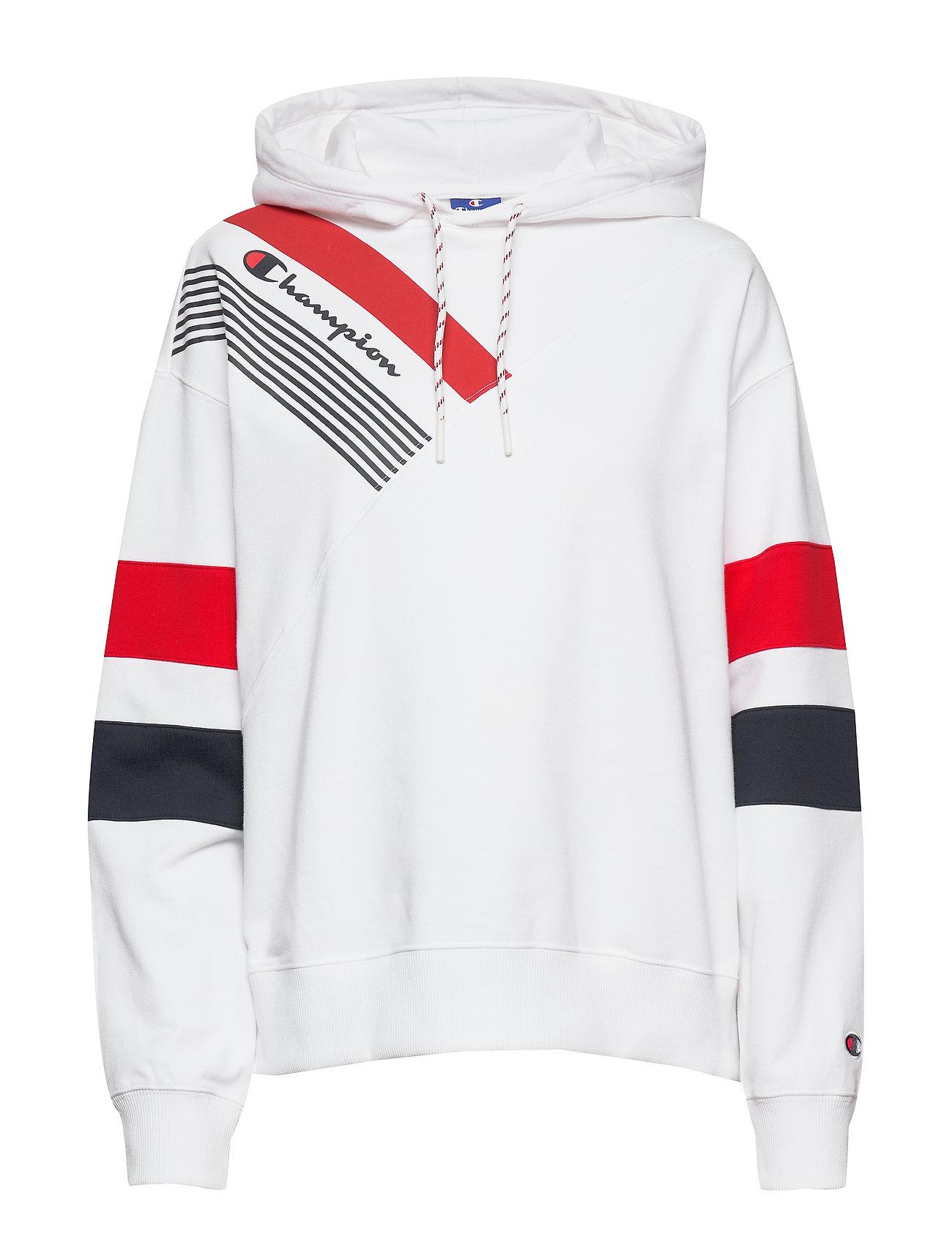 Hooded Sweatshirt Hoodie Trøje Hvid Champion