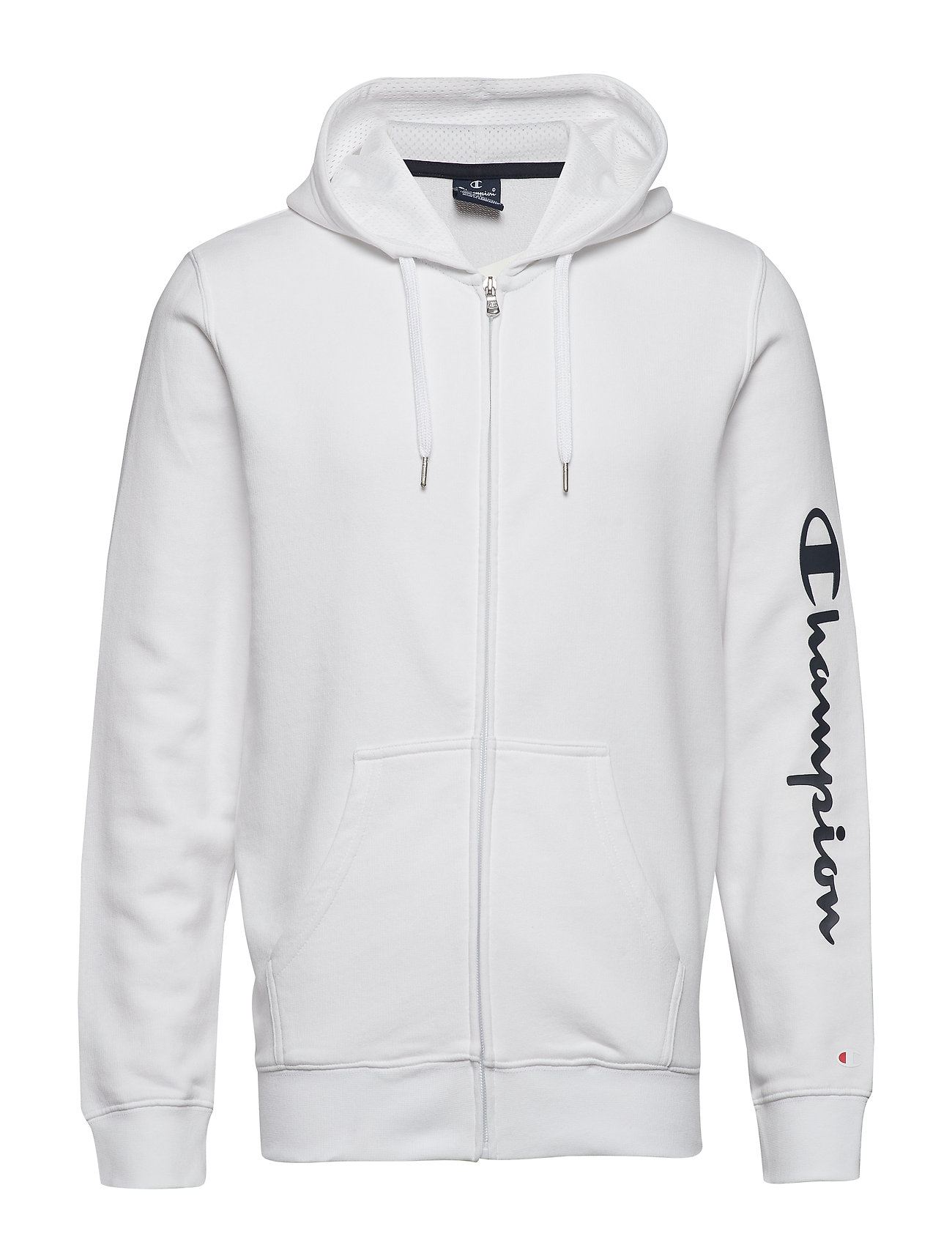 Champion Hooded Full Zip Sweatshirt - WHITE