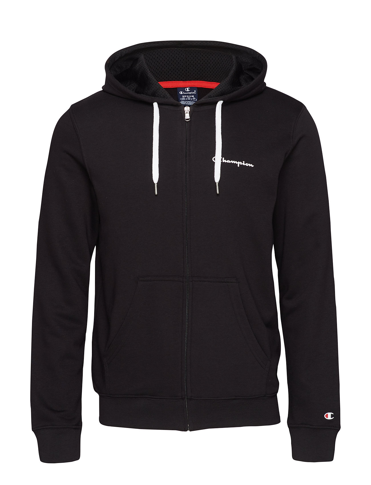 Champion Hooded Full Zip Sweatshirt - BLACK BEAUTY