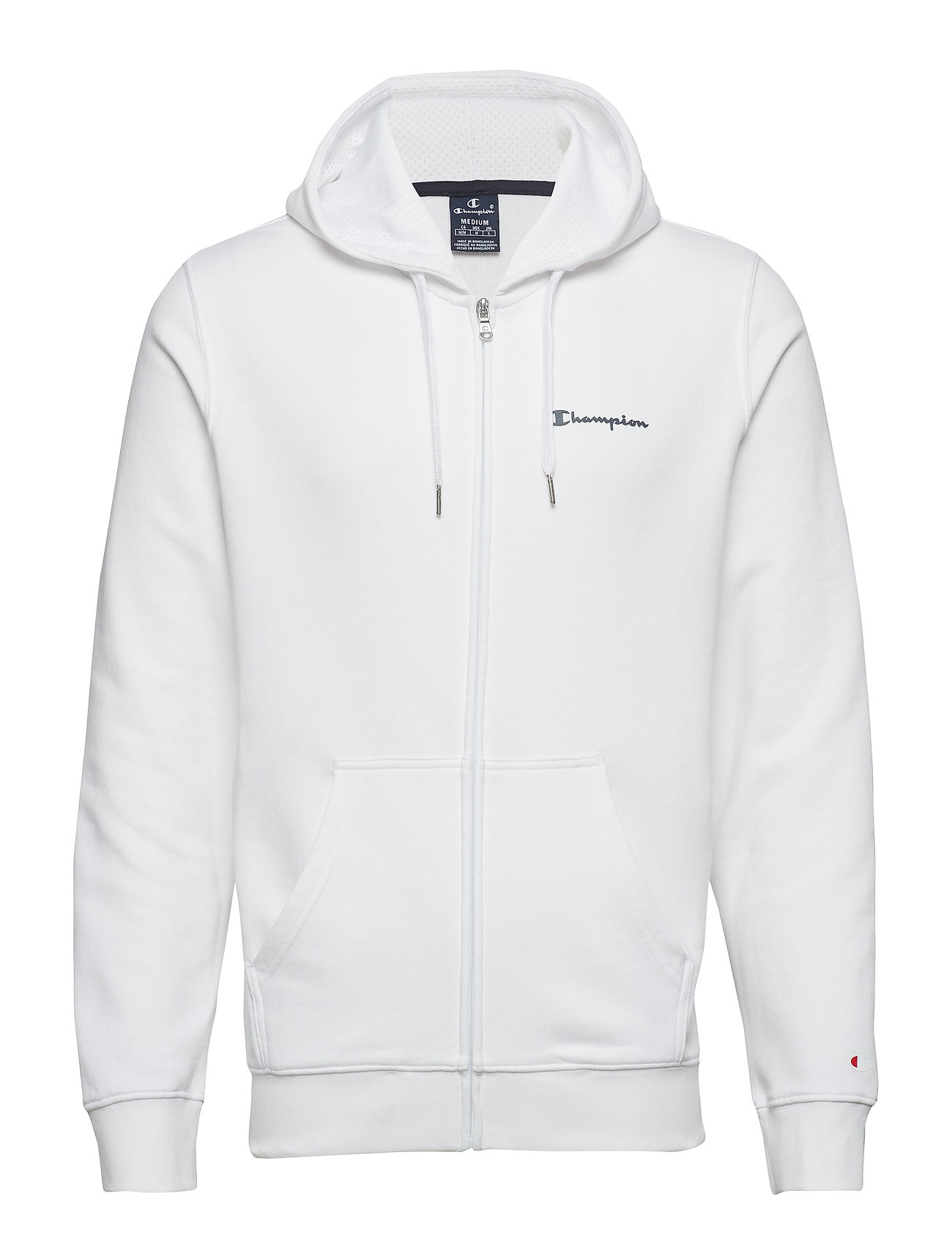 Champion Hooded Full Zip Sweatshirt - WHITE