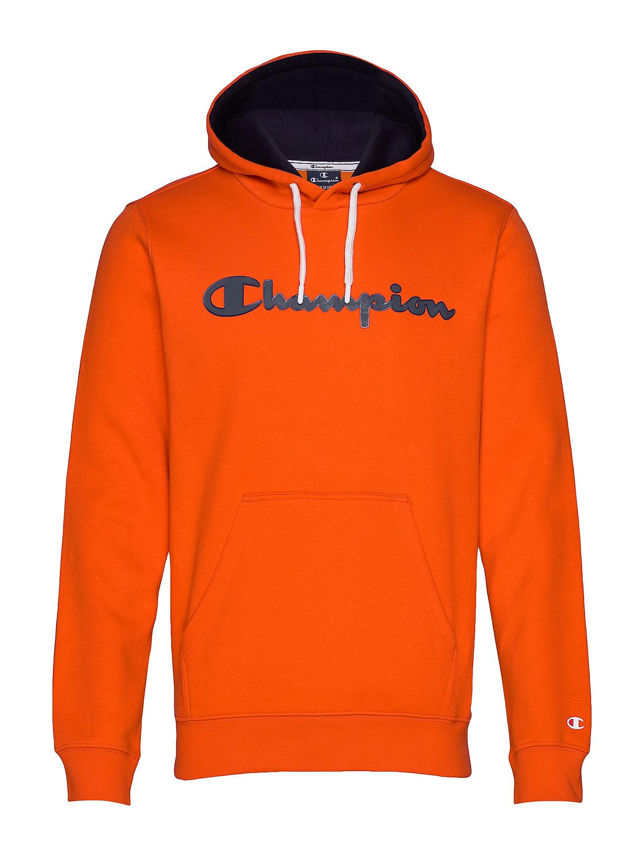 Champion Hooded Sweatshirt - TANGERINE TANGO