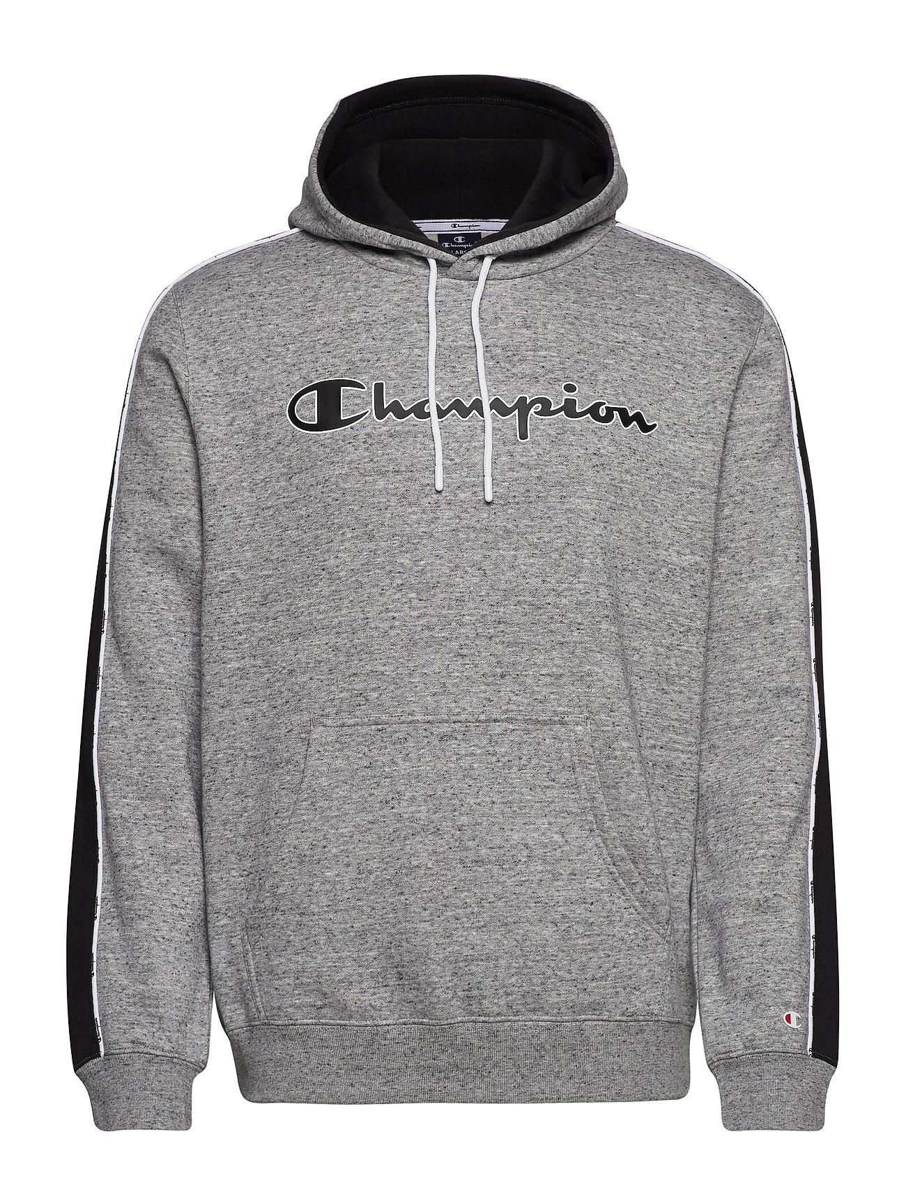 Champion Hooded Sweatshirt - GREY MELANGE  LIGHT