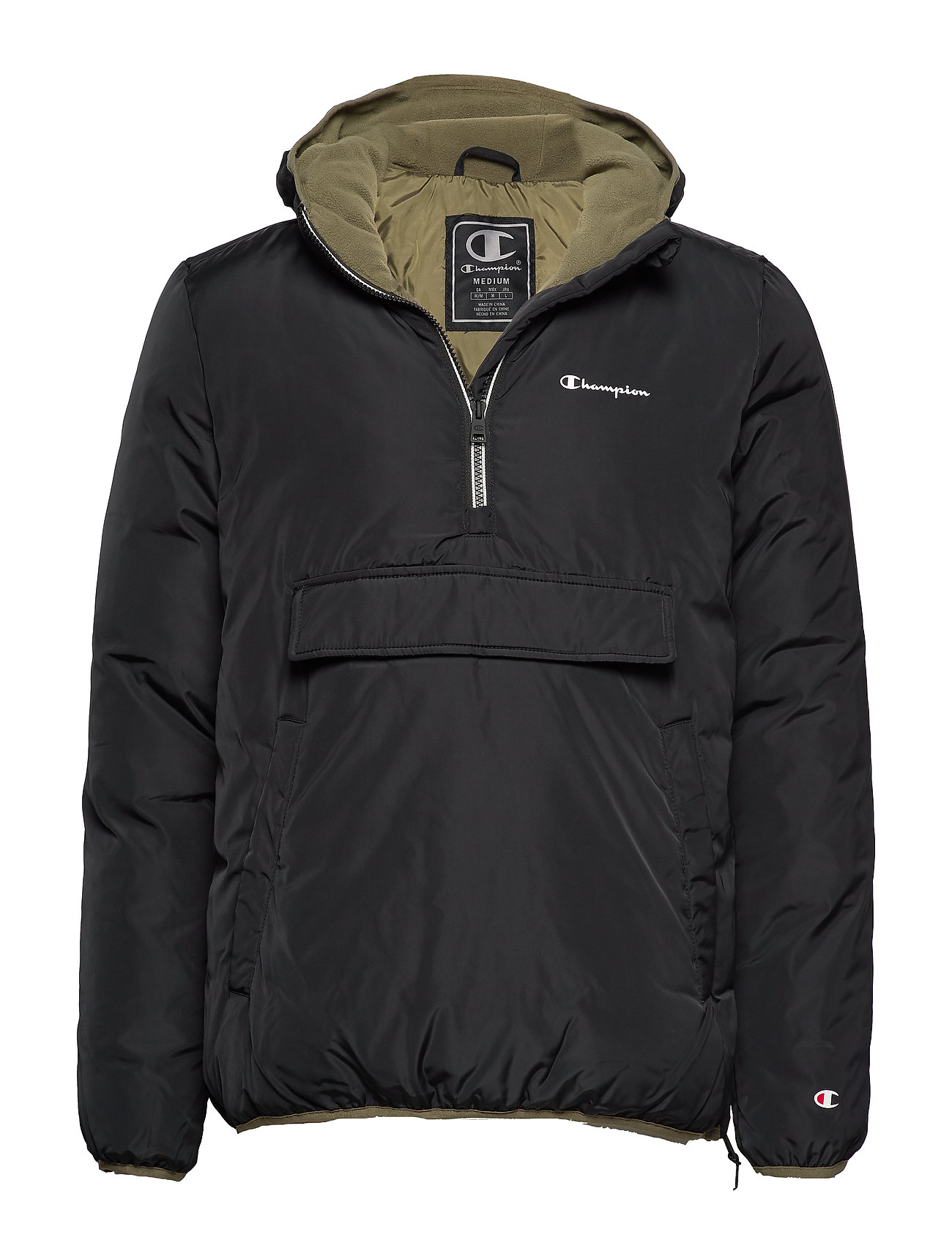 Champion Hooded Jacket - BLACK BEAUTY