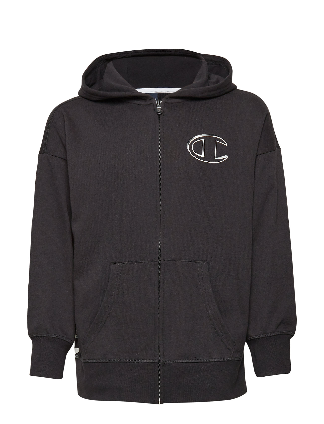 Champion Hooded Full Zip Sweatshirt - BLACK BEAUTY