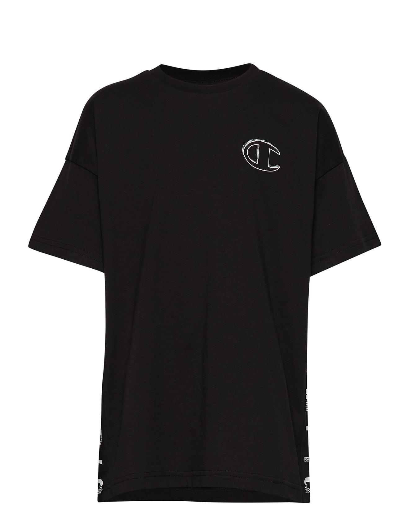 Champion Crewneck T-Shirt - BLACK BEAUTY